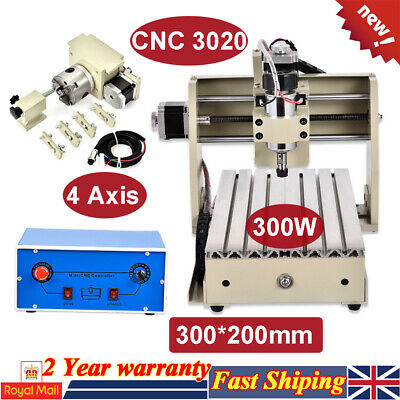 CNC3020 4 Axis Engraver Router Engraving Machine Metal Wood PCB Drilling Milling
