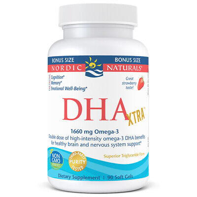 Nordic Naturals Strawberry DHA Xtra - Potent Support for Brain & Nervous System