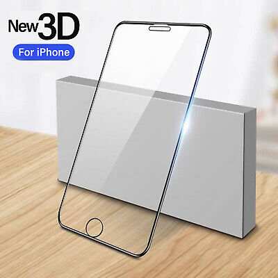 For iPhone 6 6s 7 8 Plus 3D Gorilla Tempered Glass Screen Protector Full Film