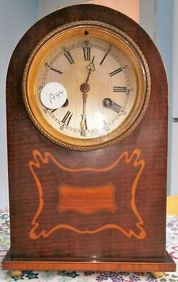 French Mahogany Inlaid and Crossbanded Bracket Clock Working Order