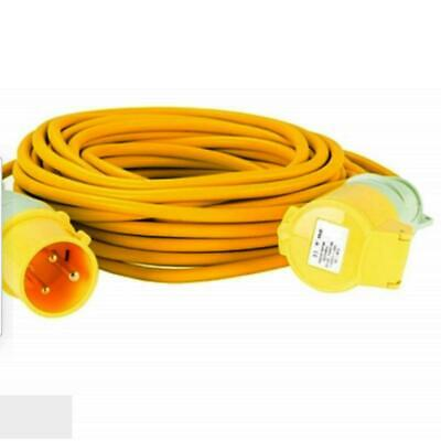 14m Yellow Extension Power Lead 32A Yellow Male to 32A Yellow Female 2.5mm Cable