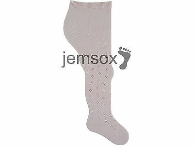 Pink Pelerine Cotton Baby Patterned UK Made Tights VARIOUS SIZES - 4 Pairs