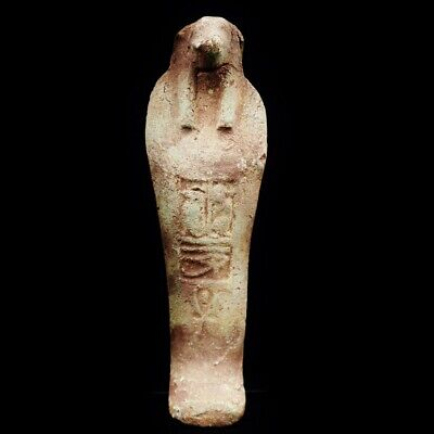 Antique Faience Ushabti Statue Figure Ancient Egyptian God Anubis God Of Death