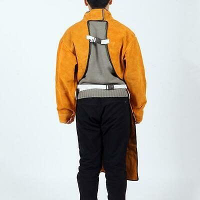 Cowhide Welding Apron Double-sided Wearable Insulation Spark-proof Welder Apron