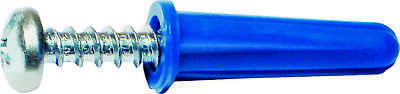 MIDWEST FASTENER 10412 Conical Anchor with Screw, Plastic