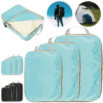 3Pcs Set Travel Luggage Organizer Packing Cubes Travel Compression Suitcase Bags