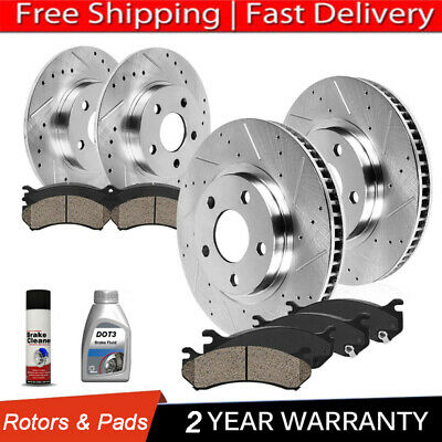 For 2003-2007 Jeep Liberty Front Rear eLine Drill Slot Brake Rotors