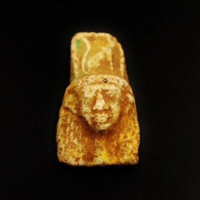 Rare Antiqye Faience Amulet Figurine of Ancient Egyptian