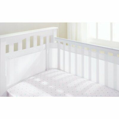 Breathable Baby Airflow 4 Sided Cot Liner - White - Warehouse Clearance