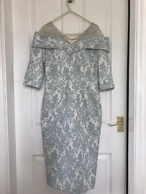 John Charles mother of the bride Stunning Dress Size 10 With Matching Hat