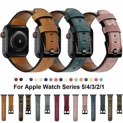 Genuine Leather iWatch Bands Strap For Apple Watch 5 4 3 2 1 38/42/40/44 mm Band