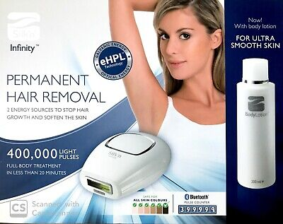 Silk'n Infinity 400,000 eHPL Permanent Hair Removal Device 400k +  Body Lotion