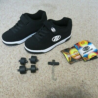 New Boys Kids Youth Heely/'s Dual Up X2 Wheeled Skate Shoes Size 4Y-6Y Spider Web