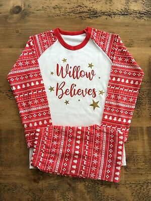 ***SALE*** Personalised Children's Christmas Pyjamas SIZE 4-5 YRS ONLY