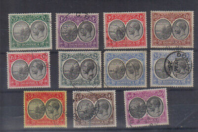 Dominica George V 1923-33 set to 6d used