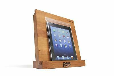 John Boos I-BLOCK-C Cherry Cutting Board and Stand for Tablet