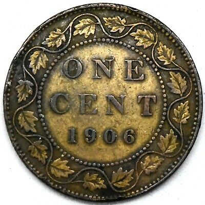 1906~ Canada~ Large Cent 1C Bronze Coin ~ EDWARD VII - KM#8