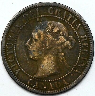 1900H~ Canada~ Large Cent 1C ~ Queen Victoria~ Better Grade .