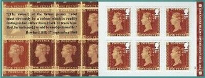 GB:2016:The 175th Anniv of the Penny Red-W1.Booklet.6x1st