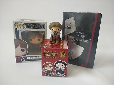 Game of Thrones lot Funko Figures Tyrion 01 Rob Stark Mysery Mini Journal Book