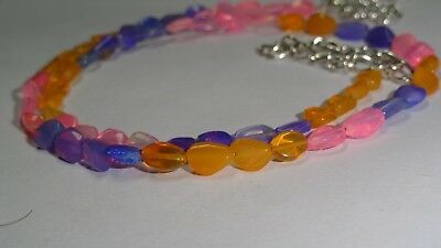 """35Cts Natural Ethiopian Opal Welo Fire Loose Gemstone Mix Color  Beads 16""""  0175"""