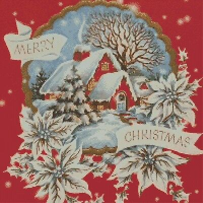 Merry Christmas Counted Cross Stitch Chart No. 4-439