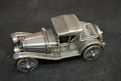 FRANKLIN MINT 1913 CADILLAC COUPE Sterling Silver Miniature Car 147 grams