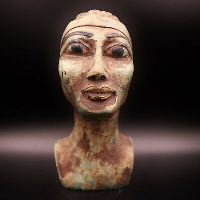 Stunning Rare Antique Egyptian Pharaoh Bust Figure LARGE....ONE OF A KIND