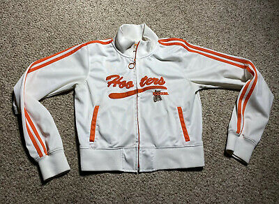 VINTAGE 80s WOMENS HOOTERS TRACK JACKET SZ LARGE FULL ZIP