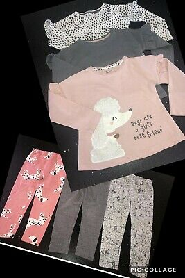 Girls Tu Bundle Mix And Match 3 X Tops And 3 X Leggings  Age 3 - 4 Years