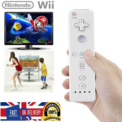 White Console Remote Controller + Strap for Nintendo Wii & Wii U Game UK Stock