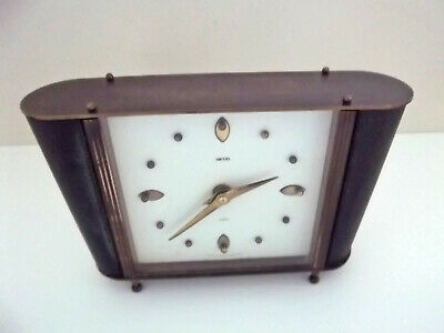 Vintage Smiths Art Deco 8 Day Mantle Clock with Floating Balance