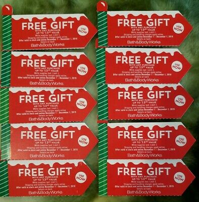 Bath & Body Works Cps fre gift w any purchase  up to $13.50 . Exp Dec 1