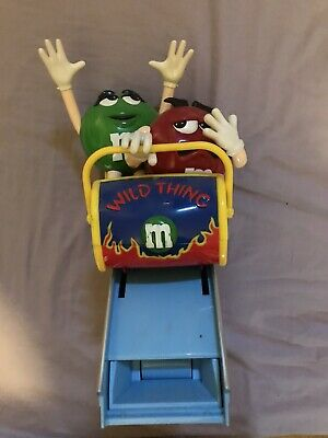 M&Ms Wild thing Roller Coaster Figure Rare Collectable Character Dispenser
