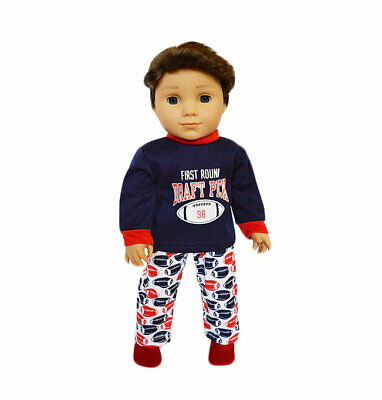 My Football Pjs Compatible with American Girl Boy Dolls- 18 Inch Doll Clothes