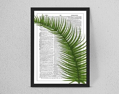 Vintage/Retro DICTIONARY Botanical Leaf Antique print/wall art A4/A3 Wall Decor