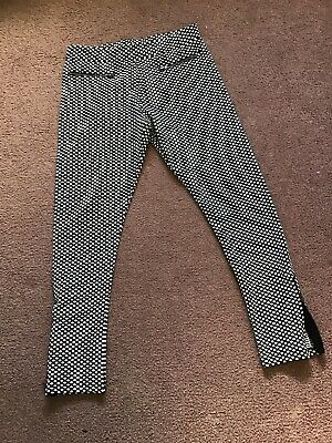 Girls Marks And Spencers Spotty Trousers Age 11-12
