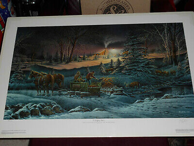 """Terry Redlin """"A Helping Hand"""" Limited Edition Print Signed Numbered With COA"""