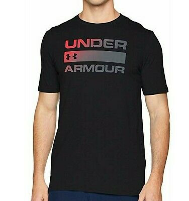 NWT Mens Under Armour Team Issue Wordmark Black Large T- Shirt Active Gym Tee