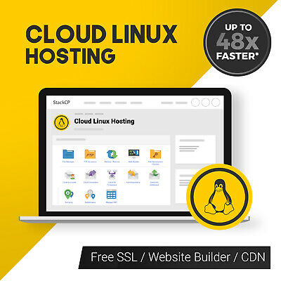 1 Year Unlimited SSD Website Web Hosting, StackCP with free SSL's CMS Installer