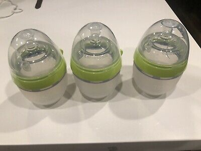 (Used) Comotomo Natural Feel Baby Bottle Green (5oz) Set Of 3