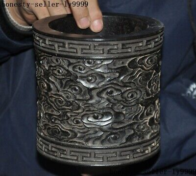 """5""""   Collect Old Chinese Rosewood wood Ancient Palace Brush Pot pencil vase"""