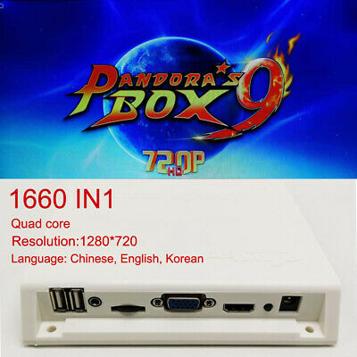 Pandora's Box 9 1660 Games Arcade Machine Video Console Jamma Board English