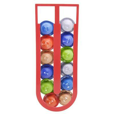 Wall Mouted Adhesive Red Capsules Coffee Pod Holder Tower Stand Storage Rack