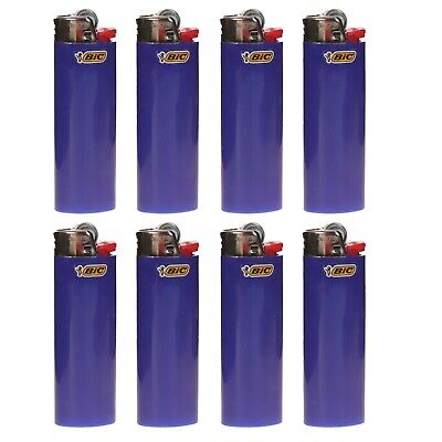 "8 x BIC Maxi Lighter ""BLUE"", New w/ Butane, Same Day Express Shipping"