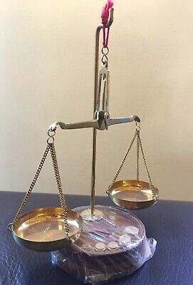 Antique Vintage Brass jewellers Scales and Weights