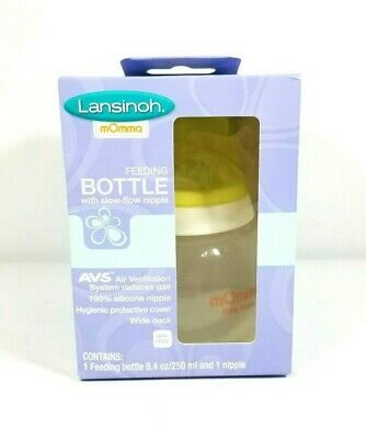 Lansinoh mOmma Feeding BOTTLE with slow flow nipple New in Package
