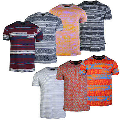 Men's Essentials Cotton Novelty Casual Outdoor Full Jacquard Pocket Tee