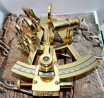 Vintage Solid Brass Nautical Ship Instrument Astrolabe Marine Sextant Gift Item