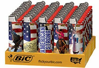 BIC Special Edition Americana Series Lighters, 50-Count Tray